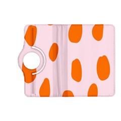 Polka Dot Orange Pink Kindle Fire Hd (2013) Flip 360 Case by Jojostore