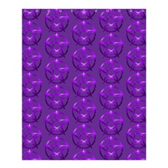Mystic Purple Pentacle Pagan Wiccan Shower Curtain 60  X 72  (medium) by cheekywitch