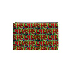 Typographic Graffiti Pattern Cosmetic Bag (small)  by dflcprints