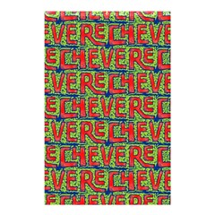 Typographic Graffiti Pattern Shower Curtain 48  X 72  (small)  by dflcprints