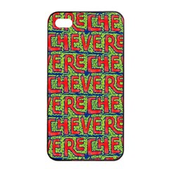 Typographic Graffiti Pattern Apple Iphone 4/4s Seamless Case (black) by dflcprints