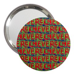 Typographic Graffiti Pattern 3  Handbag Mirrors by dflcprints