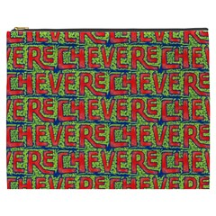 Typographic Graffiti Pattern Cosmetic Bag (xxxl)  by dflcprints