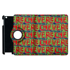 Typographic Graffiti Pattern Apple Ipad 3/4 Flip 360 Case by dflcprints