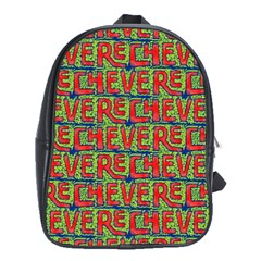 Typographic Graffiti Pattern School Bags (xl)  by dflcprints