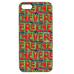 Typographic Graffiti Pattern Apple Iphone 5 Hardshell Case With Stand by dflcprints