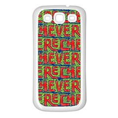 Typographic Graffiti Pattern Samsung Galaxy S3 Back Case (white) by dflcprints
