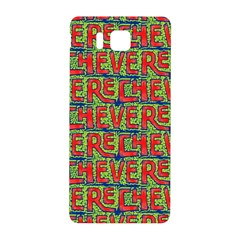 Typographic Graffiti Pattern Samsung Galaxy Alpha Hardshell Back Case by dflcprints