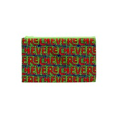Typographic Graffiti Pattern Cosmetic Bag (xs) by dflcprints
