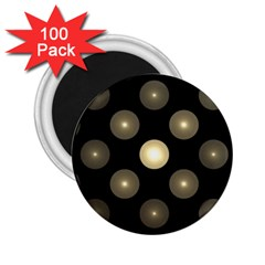 Gray Balls On Black Background 2 25  Magnets (100 Pack)  by Nexatart