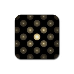 Gray Balls On Black Background Rubber Square Coaster (4 Pack)  by Nexatart
