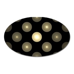 Gray Balls On Black Background Oval Magnet by Nexatart