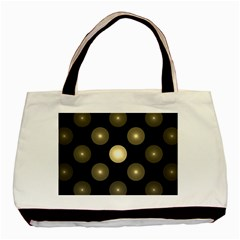 Gray Balls On Black Background Basic Tote Bag (two Sides)