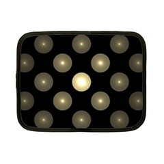 Gray Balls On Black Background Netbook Case (small)  by Nexatart