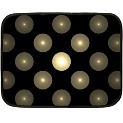 Gray Balls On Black Background Double Sided Fleece Blanket (mini)  by Nexatart