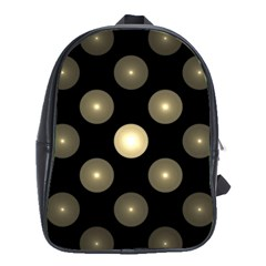 Gray Balls On Black Background School Bags(large)