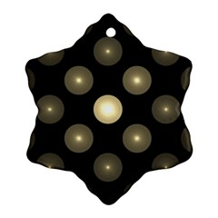 Gray Balls On Black Background Ornament (snowflake) by Nexatart