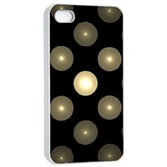 Gray Balls On Black Background Apple Iphone 4/4s Seamless Case (white) by Nexatart