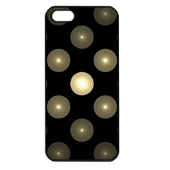 Gray Balls On Black Background Apple Iphone 5 Seamless Case (black)