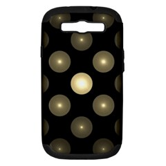 Gray Balls On Black Background Samsung Galaxy S Iii Hardshell Case (pc+silicone) by Nexatart