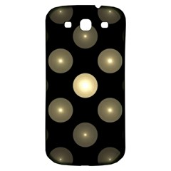 Gray Balls On Black Background Samsung Galaxy S3 S Iii Classic Hardshell Back Case
