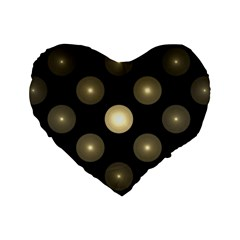 Gray Balls On Black Background Standard 16  Premium Heart Shape Cushions
