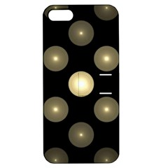 Gray Balls On Black Background Apple Iphone 5 Hardshell Case With Stand by Nexatart