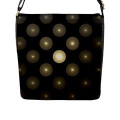 Gray Balls On Black Background Flap Messenger Bag (l)