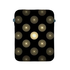 Gray Balls On Black Background Apple Ipad 2/3/4 Protective Soft Cases by Nexatart