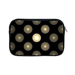 Gray Balls On Black Background Apple Ipad Mini Zipper Cases by Nexatart