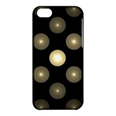 Gray Balls On Black Background Apple Iphone 5c Hardshell Case