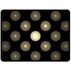 Gray Balls On Black Background Double Sided Fleece Blanket (large)  by Nexatart