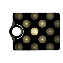 Gray Balls On Black Background Kindle Fire Hd (2013) Flip 360 Case by Nexatart