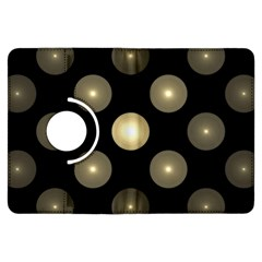 Gray Balls On Black Background Kindle Fire Hdx Flip 360 Case