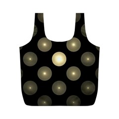 Gray Balls On Black Background Full Print Recycle Bags (m)