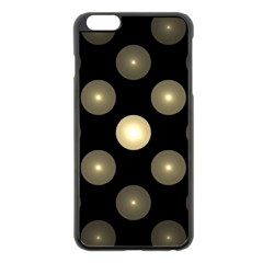 Gray Balls On Black Background Apple Iphone 6 Plus/6s Plus Black Enamel Case