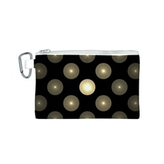 Gray Balls On Black Background Canvas Cosmetic Bag (s) by Nexatart