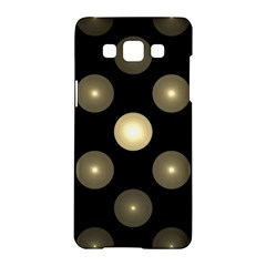 Gray Balls On Black Background Samsung Galaxy A5 Hardshell Case  by Nexatart