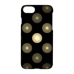 Gray Balls On Black Background Apple Iphone 7 Hardshell Case by Nexatart