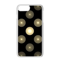 Gray Balls On Black Background Apple Iphone 7 Plus White Seamless Case by Nexatart