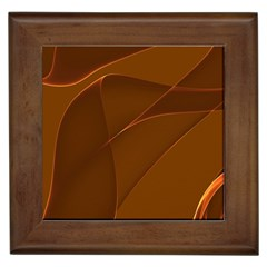 Brown Background Waves Abstract Brown Ribbon Swirling Shapes Framed Tiles by Nexatart