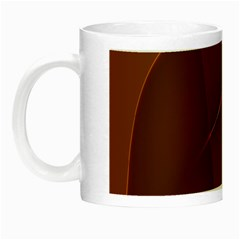 Brown Background Waves Abstract Brown Ribbon Swirling Shapes Night Luminous Mugs by Nexatart