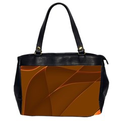 Brown Background Waves Abstract Brown Ribbon Swirling Shapes Office Handbags (2 Sides)  by Nexatart