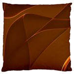 Brown Background Waves Abstract Brown Ribbon Swirling Shapes Large Cushion Case (Two Sides) Back
