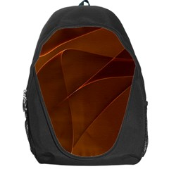 Brown Background Waves Abstract Brown Ribbon Swirling Shapes Backpack Bag