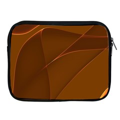 Brown Background Waves Abstract Brown Ribbon Swirling Shapes Apple Ipad 2/3/4 Zipper Cases