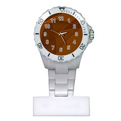 Brown Background Waves Abstract Brown Ribbon Swirling Shapes Plastic Nurses Watch