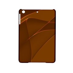 Brown Background Waves Abstract Brown Ribbon Swirling Shapes Ipad Mini 2 Hardshell Cases by Nexatart