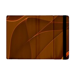 Brown Background Waves Abstract Brown Ribbon Swirling Shapes Ipad Mini 2 Flip Cases by Nexatart