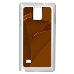 Brown Background Waves Abstract Brown Ribbon Swirling Shapes Samsung Galaxy Note 4 Case (white)